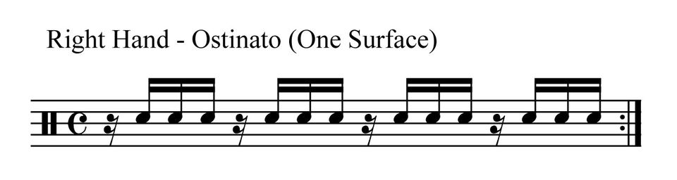 Benny Greb Drum Solo - Right Hand Ostinato - One Surface