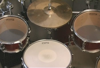 12 O'clock Remote Cable Hi-Hat placement (Toms on either side)