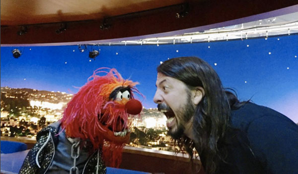 Animal and Dave Grohl