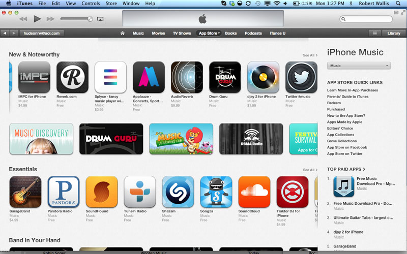 iTunes New and Noteworthy - Drum Guru app